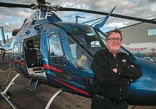 Photo Credit: SPOKESMAN PHOTO: JOSH KULLA - Life Flight Network CEO Mike Griffiths started with the company as a flight nurse in 2002. Today, he remains active in the medical field and continues to make operational flights despite being the head of the company.