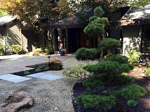 Photo Credit: SUBMITTED PHOTOS: ROSS NW WATERGARDENS - Ross NW Watergardens recently completed phase one of a design to rejuvenate a classic Japanese garden. Part of the design was to enhance this dryscape courtyard leading to the main entrance.