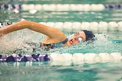 Photo Credit: SUBMITTED PHOTO: GREG ARTMAN - Austyn Roelofs helped the Wilsonville girls 200-yard medley team capture second place in St. Helens.