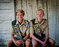 Photo Credit: SUBMITTED PHOTO: LOMA SMITH - Lakeridge High School juniors and Boy Scout Troop 432 members have become Eagle Scouts. From left: Michael Moxness and Garrett Riggs.
