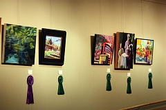 Photo Credit: HILLSBORO TRIBUNE PHOTO: DOUG BURKHARDT - An exhibit of a variety of paintings and pastels from Septembers Hillsboro Plein Air Plus event are currently on display at the Hillsboro Civic Center auditorium. The artwork will be featured through Feb. 24, 2015.
