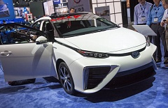 Photo Credit: PHOTO BY JOHN M. VINCENT  - Toyota announced at the Consumer Electronics Show that they will share over 5000 of their fuel cell patents with other manufacturers royalty-free to encourage development of cars like the recently introduce Mirai fuel cell vehicle.