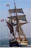 Photo Credit: COURTESY OF BOB HARBISON - The Hawaiian Chieftain will be touring this year with the 1790s-era replica ship Lady Washington (not pictured), voyaging up the West Coast for the next five months and along the Columbia River in July and August. The tall ships will make a stop in Rainier late in August.