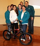 Photo Credit: COURTESY OF ST. HELENS COMMUNITY FEDERAL CREDIT UNION - To commemorate Martin Luther King Jr. Day, St. Helens Community Federal Credit Union employees built nine bicycles and donated them to Columbia County foster children through CASA for Children.