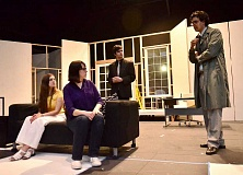 Photo Credit: REVIEW PHOTO: VERN UYETAKE - Students rehearse a scene from And Then There Were None at Lakeridge High (from left): Abby Zink, Nora Cyganiak, Andrew Tesoriero and Ryan Sayegh.