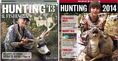 These are the covers of the last two Hunting sections published by The Outlook, Sandy Post and Estacada News.