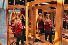 Photo Credit: DAVID F. ASHTON - Guests find its easy to lose their way in this Hall of Mirrors, within the Maze of Illusions.