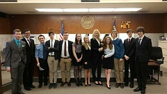 SUBMITTED PHOTO - Riverdale High School earned third place at the 2015 State Mock Trial Competition in Portland last week.