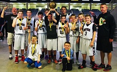 SUBMITTED PHOTO - THE BEST -- The Sherwood sixth-grade boys basketball team claimed the title at the Oregon state tournament.