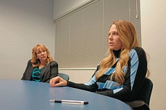 TRIBUNE FILE PHOTO - Danielle Tudor (left) and Brenda Tracy are speaking out to raise awareness about the rape statute of limitations this month.