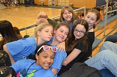 SUBMITTED PHOTO - Sixth-grade teammates earned first place at a recent Destination Imagination competition held at Wilsonville High School.