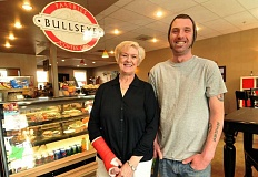 TIDINGS PHOTO: VERN UYETAKE - After she was diagnosed with cancer last November, Linda Neace realized she could not keep up with day-to-day operations at Bullseye Coffee House while undergoing treatment. Now, new owner Tyler Gragg will follow in her footsteps.