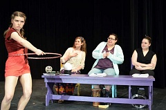 COURTESY PHOTO - Glencoe High School students Emily Upton, Jenna Corso, Ali Strelchun and Cheyenne Colucci bring the show to life on stage.