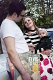 SUBMITTED PHOTO - Cameron Baker and Kaycee Satava, pose with daughter Lucy. The couple will be the first to be married in the new Graceland Chapel at the Westgate Hotel in Las Vegas as the winners of Todays Ultimate Elvis Wedding competition. The wedding will air live Thursday morning.