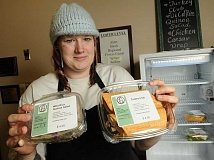 STAFF PHOTO: VERN UYETAKE - Lake Oswego Adult Community Center Head Chef Sara Schrader has launched the 5th & G Eatery, offering grab and go sandwiches and salads.