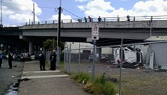 KOIN 6 NEWS - A stolen vehicle, police said, crashed through the guardrail of the Hawthorne Bridge and hurt two people.