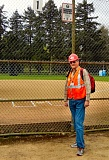 ELIZABETH USSHER GROFF - Not many people know that this baseball diamond, and the surrounding area at S.E. Steele and 50th Avenue, is designated as the Woodstock Neighborhood Staging Area during a disaster or emergency - but now YOU do. A May 4th exercise will bring dozens of volunteers to this area, dressed as you see here. It will not be a real emergency - this time!