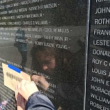 SUBMITTED PHOTO - The 12-foot memorial wall contains the names of 40,896 United Nations casualties from the war, including those killed and missing in action during the Korean War in the 1950s.