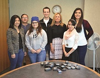 RICK PUENTE - (From left) Karla Estrada, Genesis Perez, Jocelyn Gutierrez, Raymond Mack, Molly Hawkins (of Marion County), Jharline Cortes and Cristina Mayorga pose for a photo.
