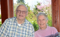 SUBMITTED PHOTO - Bob and Barbara Montgomery are members of the West Linn Adult Community Center. During World War II, it was Bobs job to escort convoys from Virginia to Key West, Fla., and patrol for German submarines in the coastal shipping lanes.