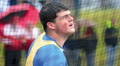 THE OUTLOOK: DAVID BALL - Barlows Kobie Ham watches a throw sail through the air during his win in the discus Tuesday.