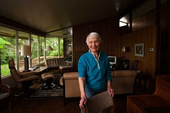 OUTLOOK PHOTO: JOSH KULLA - Marianne Ott has lived in this John Storrs-designed house since it was built in 1952.