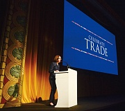 COURTESY: OREGON CONSULAR CORPS - Governor Kate Brown was one of the keynote speakers at this years Oregon Consular Corps Celebrate Trade event.