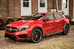 DAIMLER AG - The 2015 Mercedes-Benz GLA-Class GLA45 AMG 4MATIC lets you know its a serious performance machine right away.