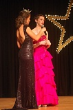 SUBMITTED PHOTO - Rebecca Anderson, an Oregon City resident who is this year's Miss Oregon, hands the mic to Milwaukie resident Eva Busch, who aced the interview portion of the Miss Three Rivers Outstanding Teen competition.