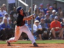 COURTESY: CADYN GRENIER - In the ninth inning of the Nevada state championship game, Oregon State recruit Cadyn Grenier hits a walk-off home run.