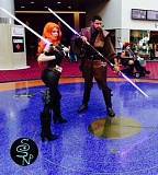 COURTESY: PHILLIP ISHERWOOD - Married last year in May, Isherwood affectionately refers to his cosplaying wife Stephanie as Mrs. Saberforge.