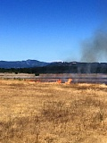COURTESY OF COLUMBIA RIVER FIRE & RESCUE - What Columbia River Fire & Rescue characterized as a 'large grass fire' burns on property owned by Boise Cascade Co. south of downtown St. Helens Thursday afternoon, June 25.