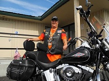 STEVE KADEL - Angie Gilley, treasurer of the Ochoco Thunder chapter of the Oregon Veterans Motorcycle Association, says new members are always welcome to join the Prineville group.