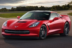 GENERAL MOTORS CORP. - Trust me, red really isn't necessary for calling attention to yourself in the new Corvette.
