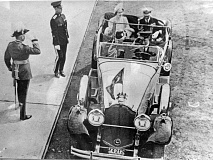COURTESY PHOTO - King George VI and Queen Elizabeth Tour Victoria, B.C., in the Packard in 1939.