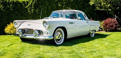 COURTESY PHOTOS - This 1956 Ford Thunderbird, which once was owned by western singing star Gene Autry, will appear at Concours dElegance in Forest Grove July 19.