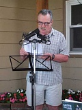 COURTESY PHOTO - Paul Orris read aloud to the audience at a previous Lend an Ear Come and Hear. Twenty-fivewriters are signed up to share this year.