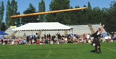 FILE PHOTO - Caber tossing is a popular event at the Portland Highland Games, which take place July 17-18 at Mt. Hood Community College