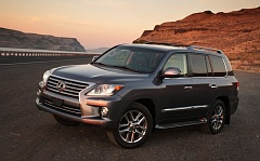 TRIBUNE PHOTO JOHN M. VINCENT - With its last exterior refresh, the Lexus LX 570 gained the company's signature spindle grille. Despite its age, it retains a stature, capability and quality that's hard to find in the segment.