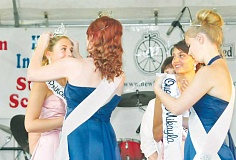 GARY ALLEN - Mikayla Farr is crowned queen of the Old Fashioned Festival court during a ceremony Thursday evening at Memorial Park.