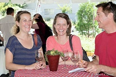 SUBMITTED PHOTO - Vine & Dine guests share a laugh during the wine-tasting event.