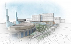 COURTESY METRO - Artist's rendering of proposed Oregon Convention Center Headquarters Hotel.