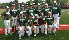 SUBMITTED - The Rex Putnam Kingsmen ruled at the 2015 Junior State Division I State Championship Baseball Tournament, going 4-0 and defeating West Salem 11-8 in the title game. Members of the standout team included: (first row, left to right): Drew Urben, Nick Wright, Christian Gangora, Andrew Howell and Carson L'esparance; (second row) coach Nick Carni, Trygve Nordby, Rocky Robinson, Joe Geertsen, Zach Creswick and Alex Martin; and (back) Kody Hall, Jake Foglio, Terran Oxman, Jordan Proudfoot, Ethan Anderson and head coach Steve Harley.