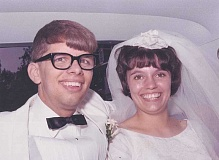 Dave and Sandy Fogle on their wedding day.