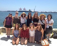 SUBMITTED PHOTO - The ladies of Girl Scout Troop 41306 make a stop on their four-day cruise to Ensenada, Mexico. Back row, from left: Co-leader Leslie Nelson, Olivia Jones, Christina Strahm, Alex Battles, Sophie Zumberis, Sahara Wright and co-leader Lori Lieberman. Front row, from left: Molly McCullough, Ilia Duckler, Sage Nicholson and Kendall Kracke.