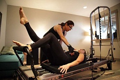 SUBMITTED PHOTO - Gloria Hammer (left) has run her own Pilates studio for 11 years. She teaches one-on-one workouts in a calm setting.