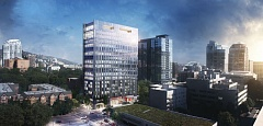 COURTESY BPM - A rendering of the 20 story office/hotel tower coming to SW Broadway in 2018