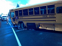 SUBMITTED PHOTO - A Wilsonville woman was killed in a collision with a school bus on Highway 20 Sept. 3. No significant injuries were reported from the occupants of the bus, a high school soccer team.