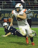 JOHN BREWINGTON - Colton Bird was one of several Indians that had a big night against No. 1 Banks on Friday. Scappoose is now ranked second in the state.