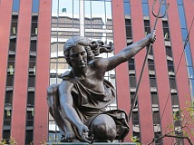 COURTESY REGIONAL ARTS & CULTURE COUNCIL  - Raymond Kaskey's iconic Portlandia statue turns 30 this month and the city will throw a party.